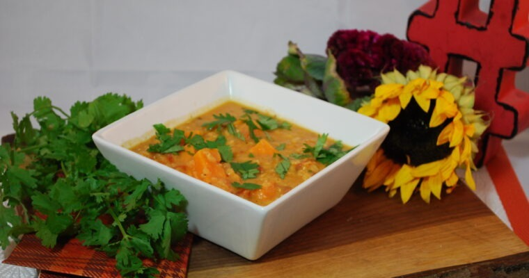 Sunday Soup: Thai Red Lentil and Sweet Potato Soup