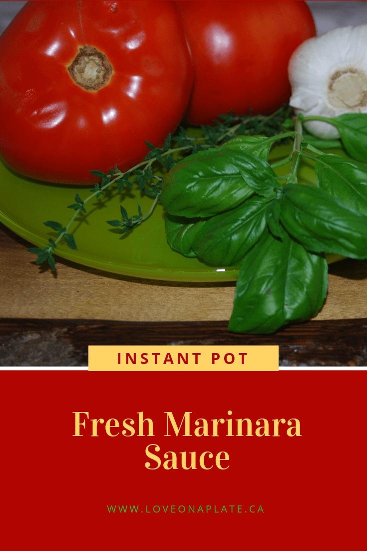 Instant Pot Fresh Marinara Sauce