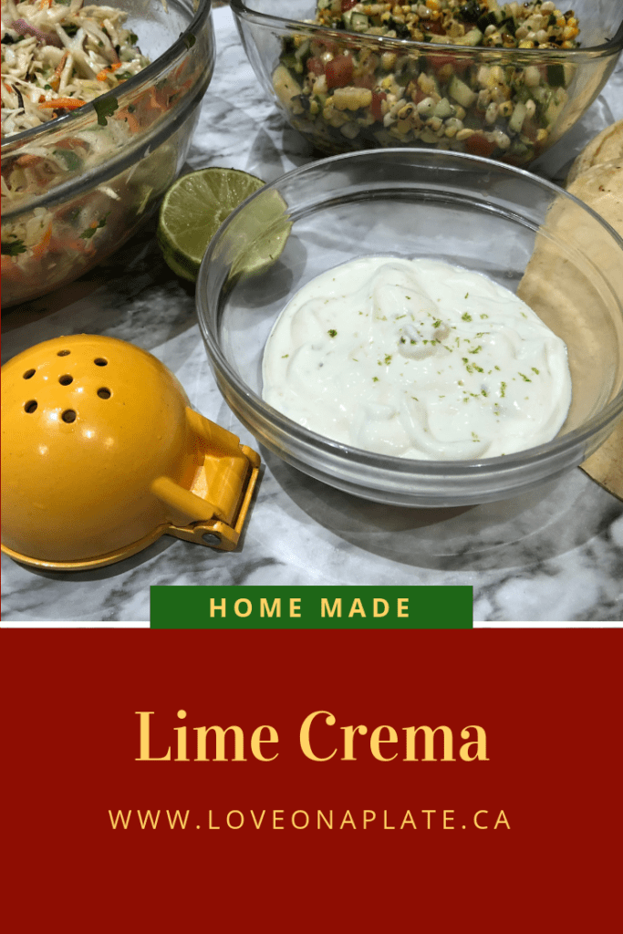 Home Made Lime Crema