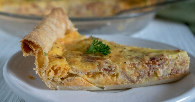 What's for Breakfast? Bacon & Cheddar Quiche
