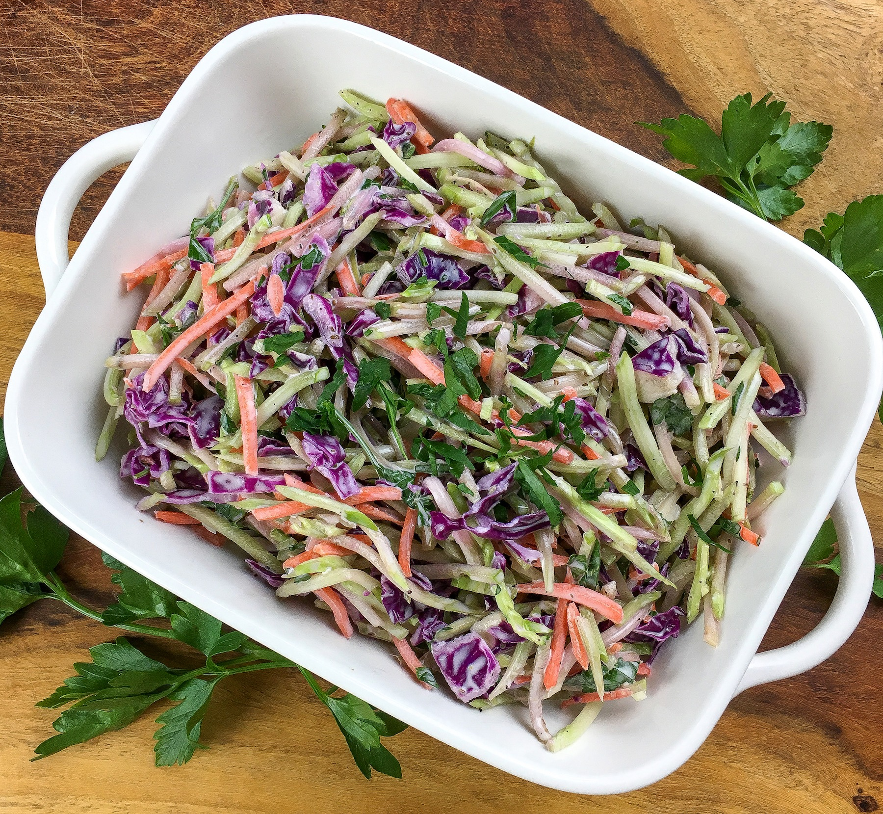 Broccoli Slaw; a Keto friendly side dish