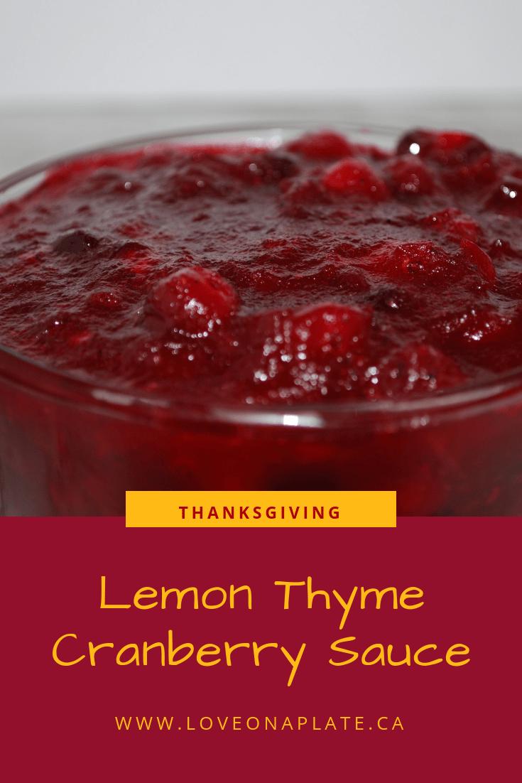 Lemon Thyme Cranberry Sauce