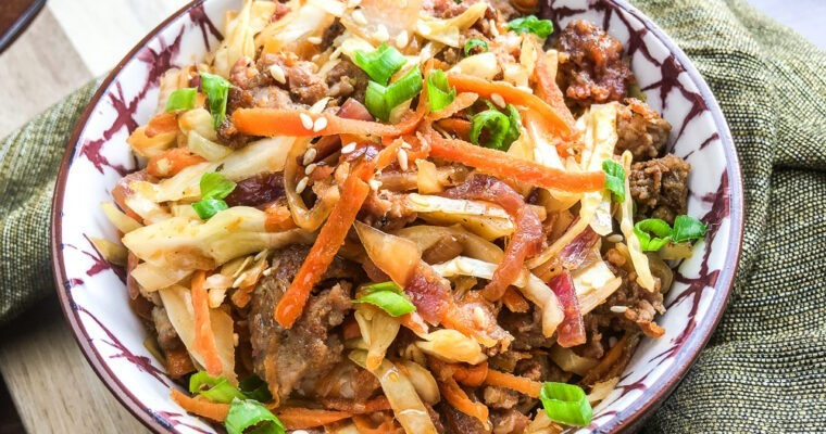 Keto Egg Roll in a bowl; satisfy your cravings!