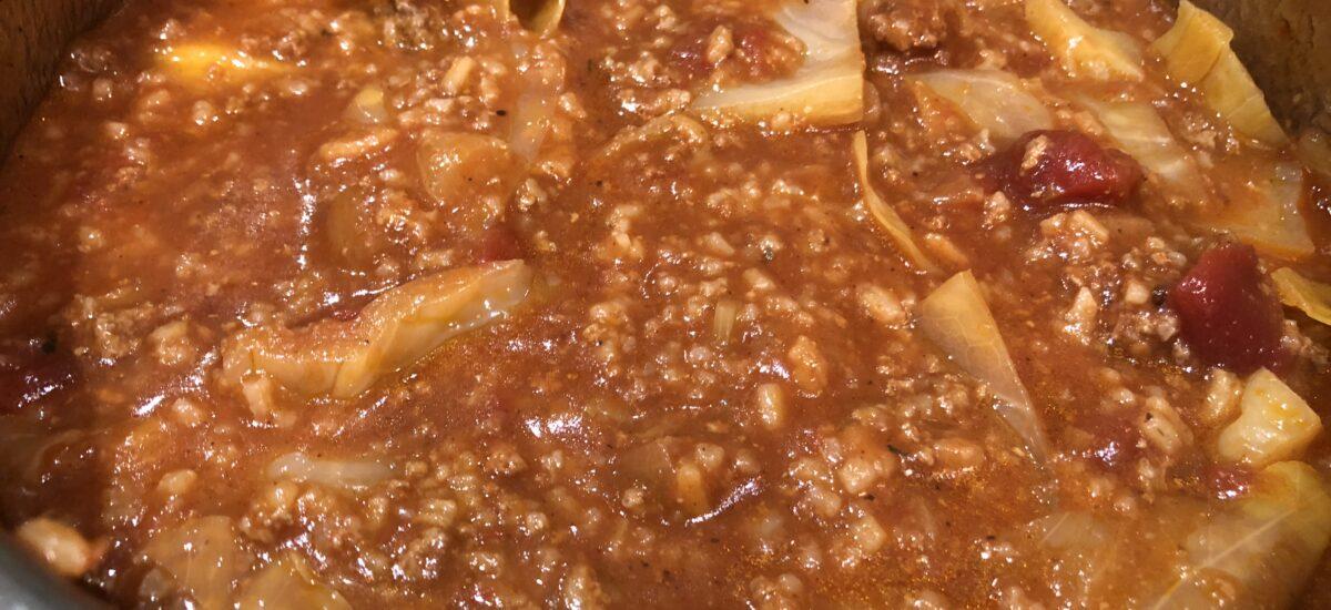 Instant Pot Unstuffed Cabbage Roll Soup