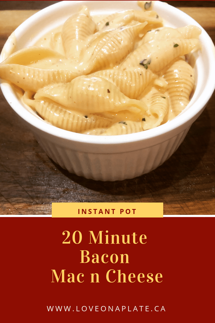 Instant Pot Bacon Mac and Cheese