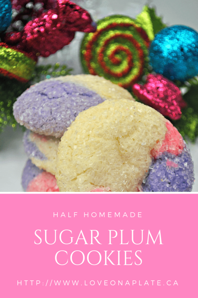 Sugar Plum Sparkle Cookies Stacked