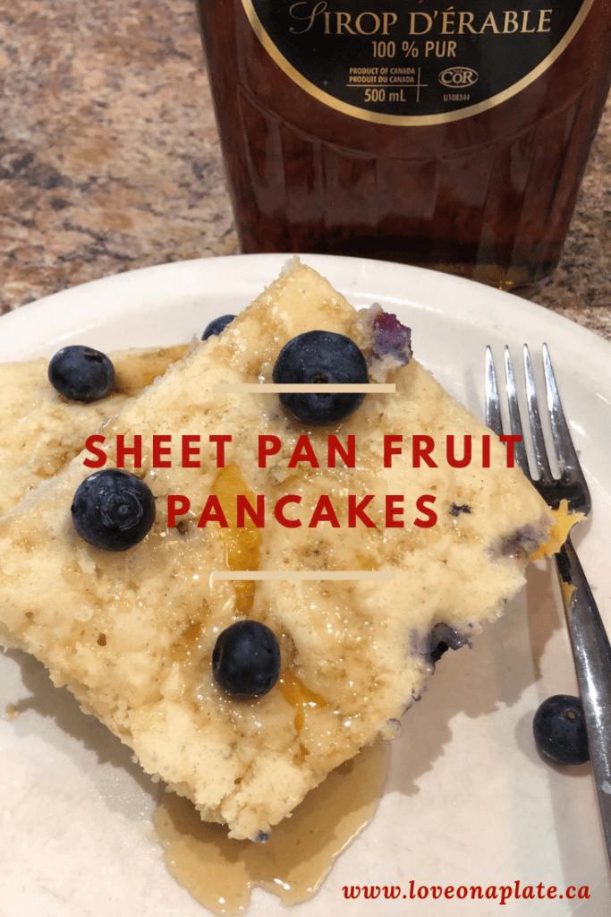 Sheet Pan Fruit Pancakes