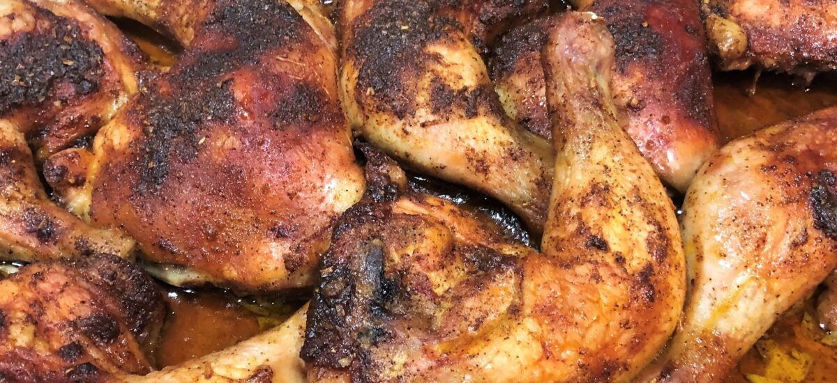 Slow Roasted Chicken Quarters; it's whats for dinner