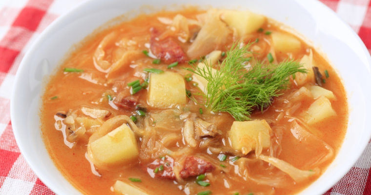 Cabbage Kielbasa Soup; Instant Pot friendly