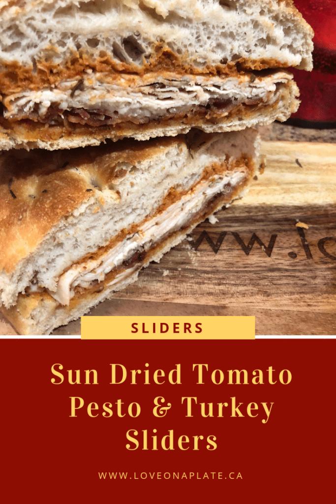 Sun Dried Tomato Pesto & Turkey Sliders