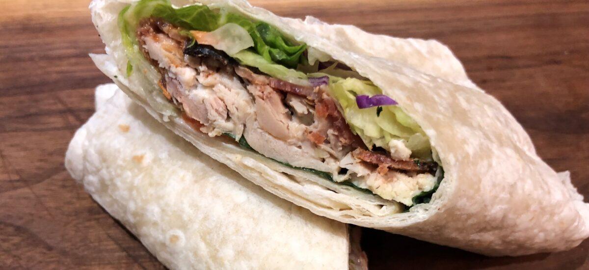 Best Ever Chicken Caesar Salad Wrap