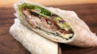 Best Ever Chicken Caesar Salad Wrap