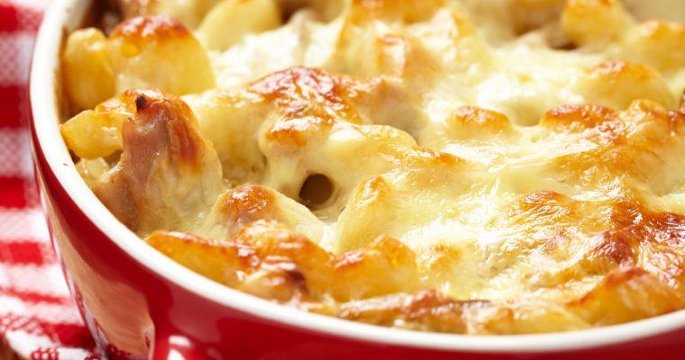Chicken Parmesan Penne Bake