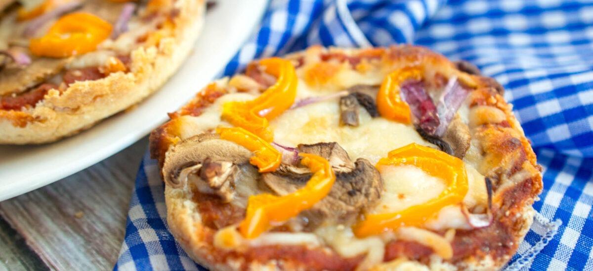 Garden Veggie English Muffin Pizzas
