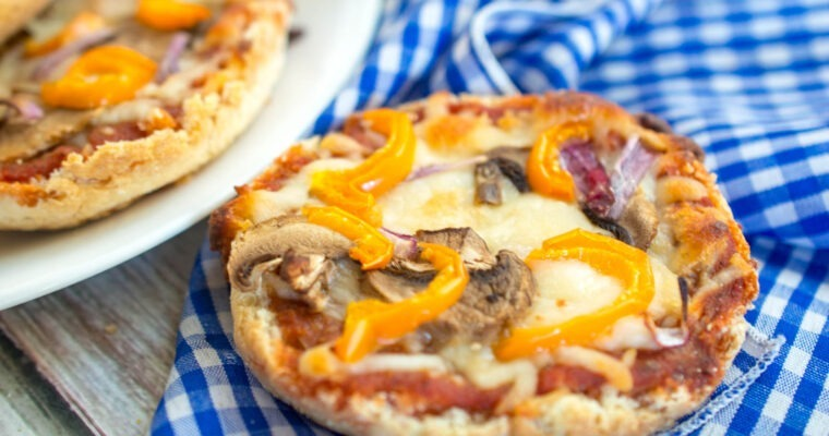 Garden Veggie English Muffin Pizzas