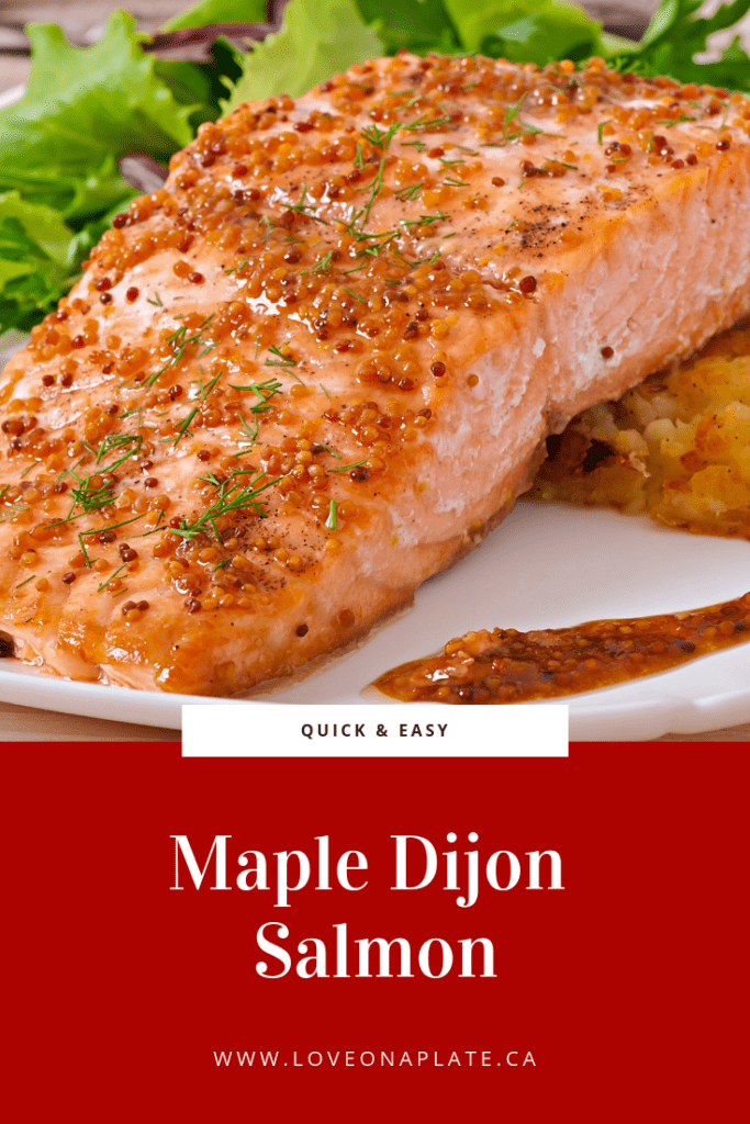 Salmon Fillet with grainy dijon mustard and maple glaze