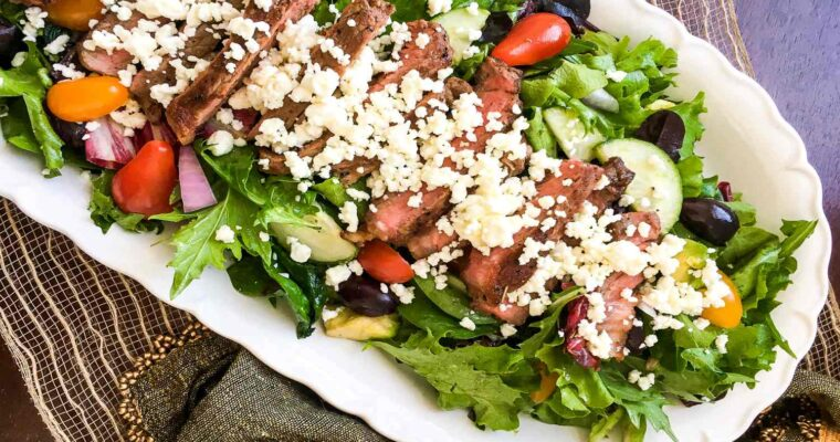 Greek Steak Salad; Farm fresh!