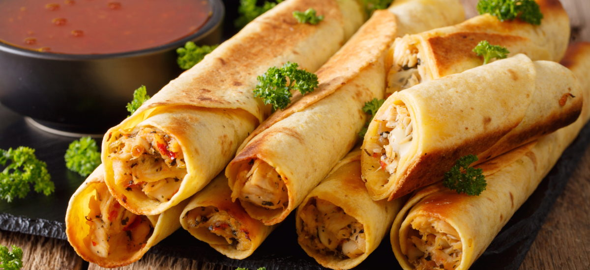 Tex Mex Chicken Baked Taquitos