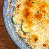 Garlic Thyme Squash Gratin