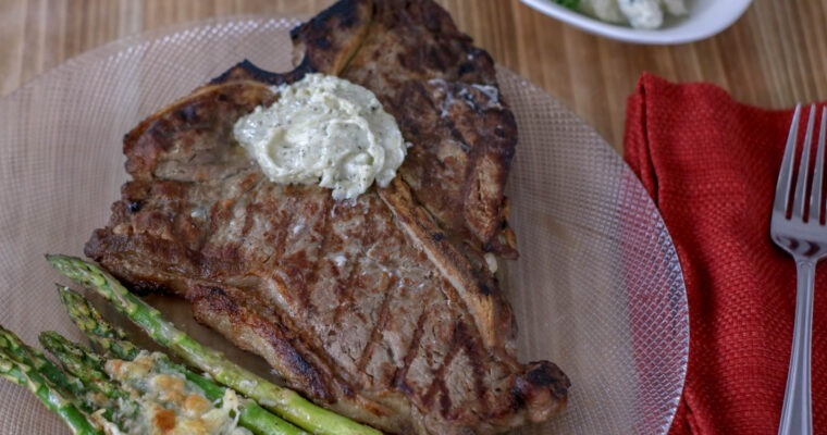Blue Cheese Steak; grilled perfection