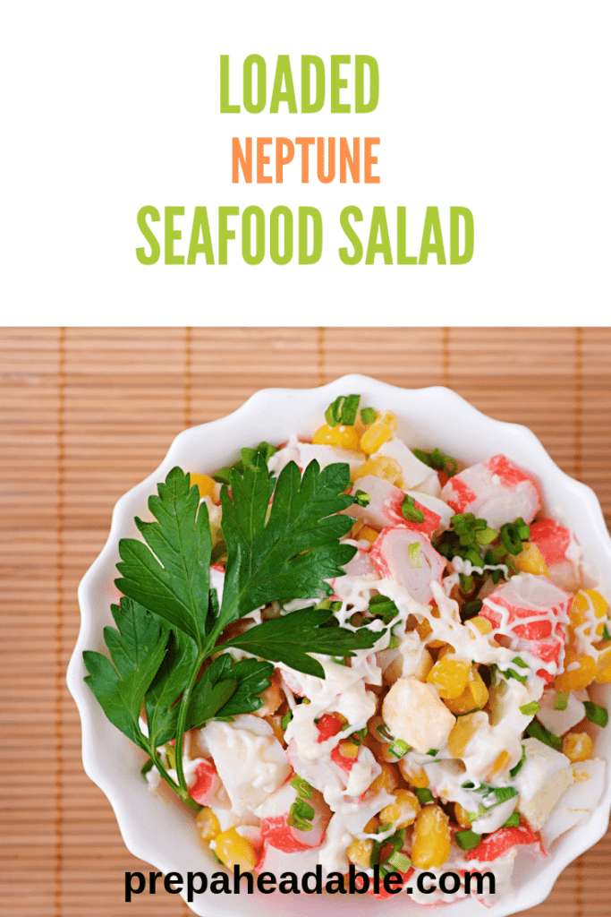 Chopped crab, celery, corn, red onion, shredded carrots, in a delicious Old Bay Mayo dressing
