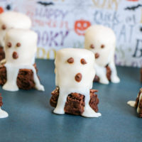 Easy Halloween Treat; Boo Brownies