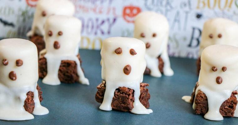 Easy Halloween Treat; Boo Brownies