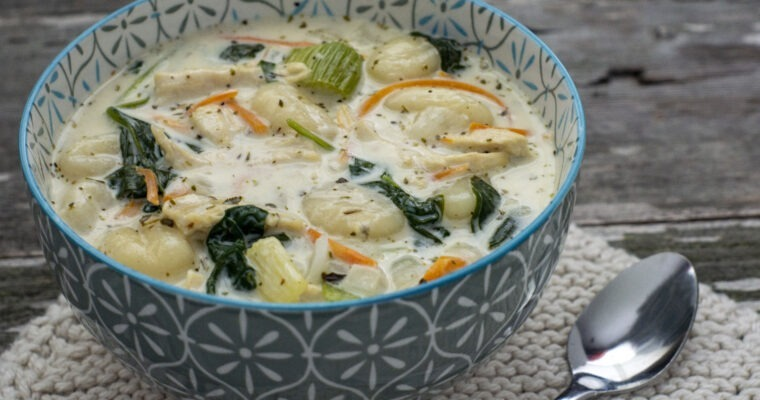 Chicken Gnocchi Soup; it's what's for dinner