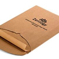 Zenlogy 12x16 (200 Pcs) Unbleached Parchment Paper Sheets for High Heat Baking - Exact Fit for Your Half Sheet Pans with Convenient Pullout Storage Box