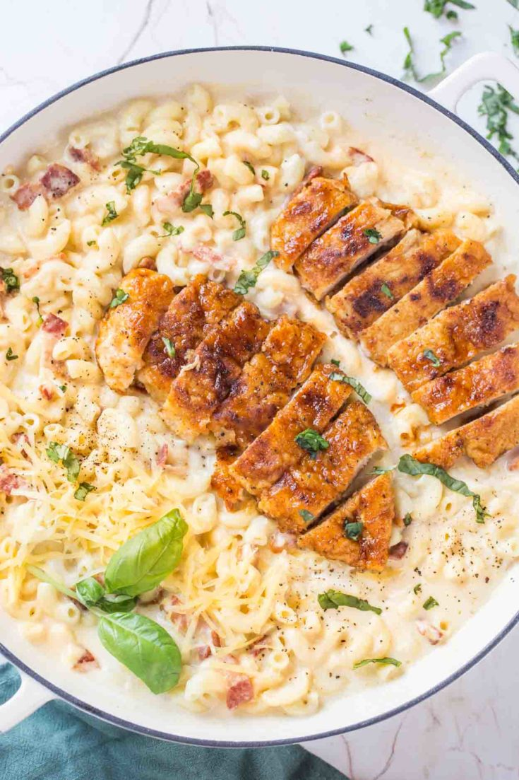 Chicken with Creamy Mac and Cheese Recipe