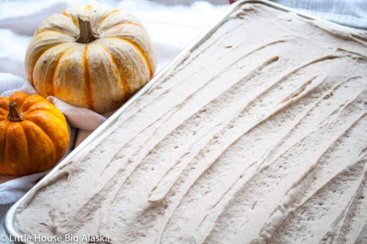 Pumpkin Texas Sheet Cake