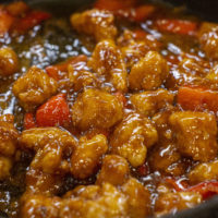 General Tso's Chicken and steamed rice