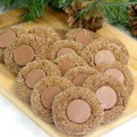 Soft Chocolate Gingerbread Thumbprint Cookies
