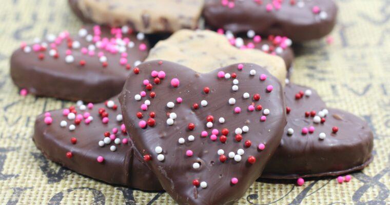 Valentines Cookie Dough Truffles